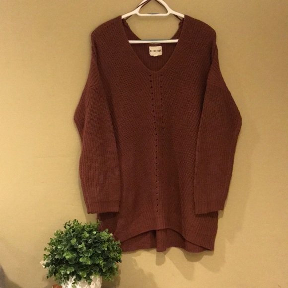 Olive & Oak Sweaters - Olive and oak Mauve tunic sweater size L